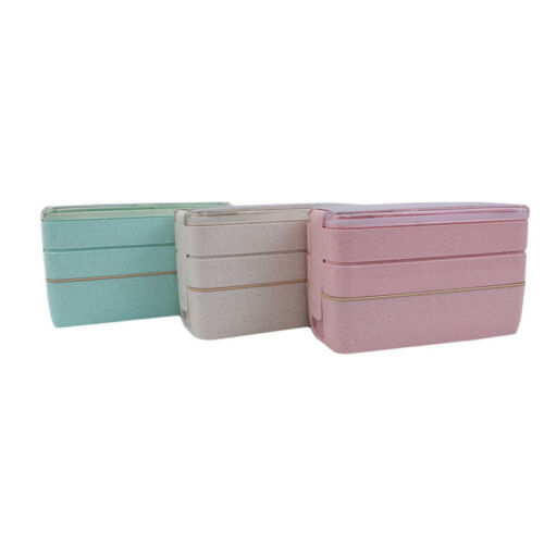 Portable Bento Microwave Lunch Box Portable 3 Layer Food Container G