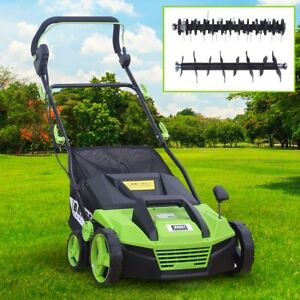 BRAST Elektro Vertikutierer Rasenlüfter 1600 Watt Kombi Gerät Moosentferner