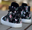 Womens-Sneakers-Flat-Lace-Up-Canvas-Shoes-Girls-Floral-High-Top-Trainers-Chic-SZ thumbnail 11