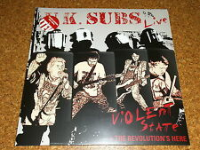 U.K. SUBS  -  Violent State + The Revolution´s Here  /  2 LP - RED - VINYL - RSD