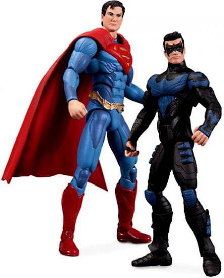 NEW DC COMICS INJUSTICE GODS AMONG US SUPERMAN VS NIGHTWING FIGURE  RARE