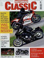 Motorrad Classic 6/99 1999 FN M86 KTM Mirabell Mecky Rickman Bimota Kawasaki KB1