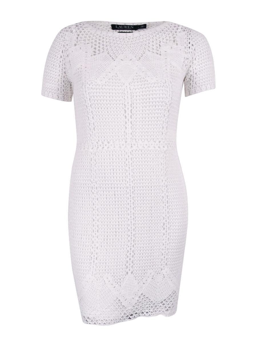 Lauren Ralph Lauren Woherren Crochet Dress (Weiß, M)
