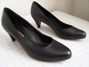 Roland Cartier 5 size Uk Heel Leather Black Shoes High w7Tw6CAq
