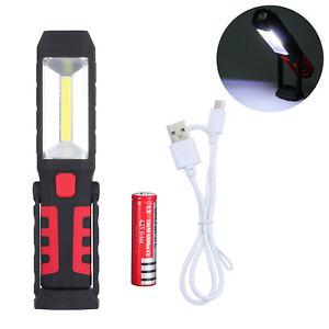 Cob Led Arbeitsleuchte Akku Taschenlampe Werkstattlampe Stablampe