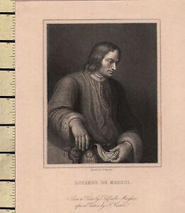 C1830 Georgiano Stampa ~ Lorenzo De Medici