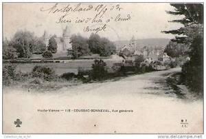CPA-87-COUSSAC-BONNEVAL-VUE-GENERALE-DE-LA-BOURGADE-ET-DU-CHATEAU