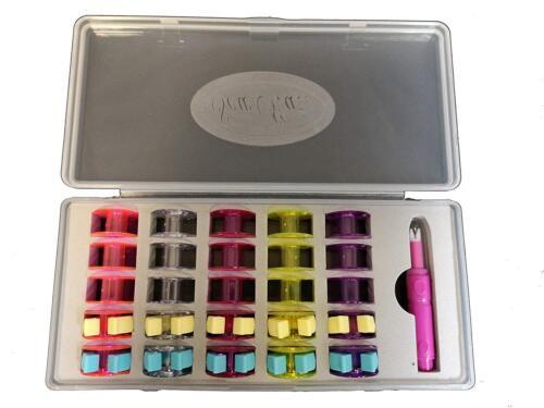 Bobine et clips aiguille Enfileur SEW Mate Canette Boîte Kit comprend Ø21mm Bobines