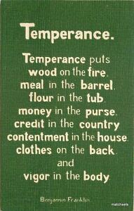 1907-Arts-amp-Crafts-Temperance-Saying-linen-Sheahan-postcard-7797