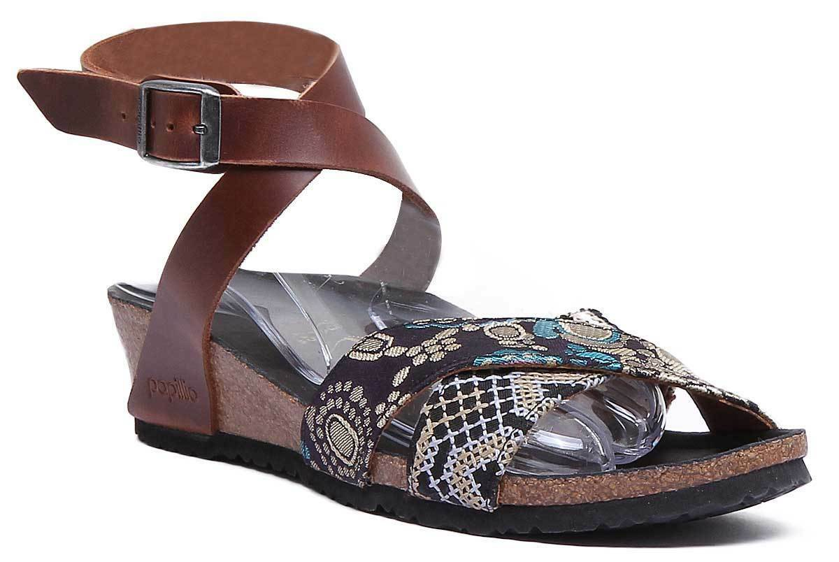Papillio Lola Texture da donna cognac pelle MATT Sandalo Sandalo Sandalo TAGLIA 510ff4