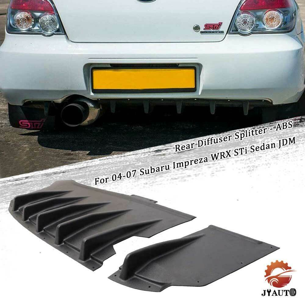 Fits 04-07 Subaru WRX Impreza STI HT Style Rear Diffuser Rear Lip ABS