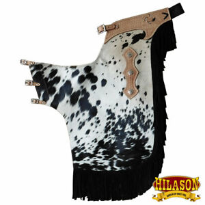 Bull Riding Chinks Chaps Large Western Pro Rodeo Bronc Leather U-20-L