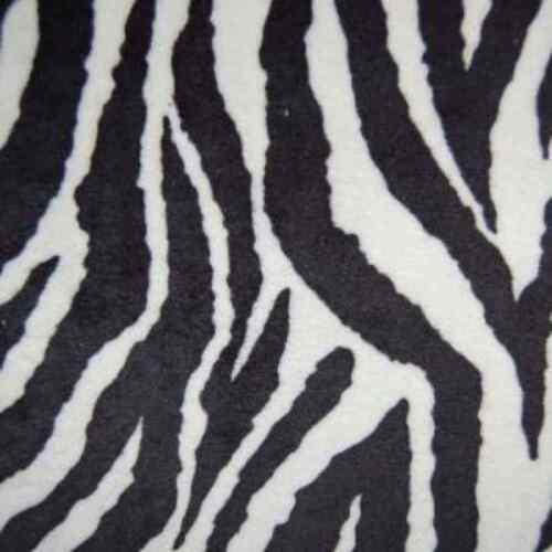 Shannon Studio Plush Cuddle Fabric Zebra Black//White 50cm x 50cm