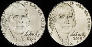 2009 P D Jefferson Nickel 2 Coin Set Uncirculated