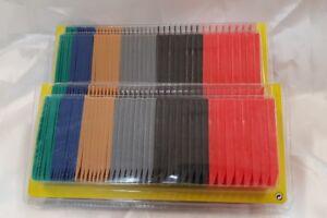 96 x Kunststoff Keile Ausgleichskeile Montage Laminat Parkett Set farbig1-6 mm