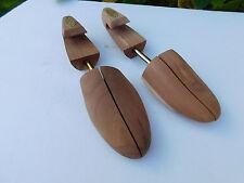 NORDSTROM CEDAR WOOD Spring Loaded Shoe Tree Stretcher Wooden Shaper Size LARGE