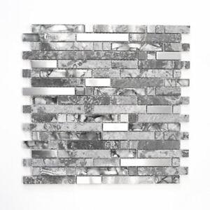 Mosaik-Fliese-Transluzent-Edelstahl-grau-Verbund-Glas-87-MV778-f-10-Matten