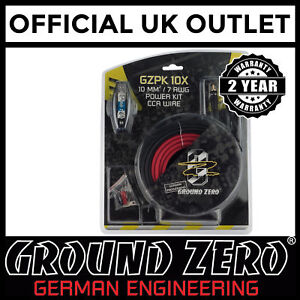 Ground-Zero-2000-Watts-8-AWG-Gauge-Car-Amplifier-Amp-Sub-Woofer-Full-Wiring-Kit