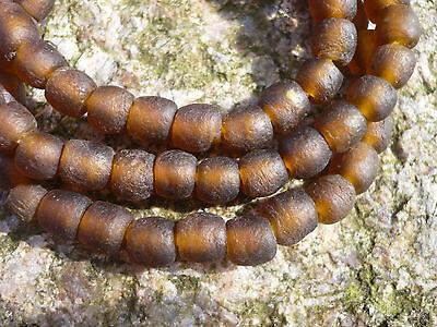 Strang Altglasperlen Afrika Ghana Krobo 7-8 mm kirschrot