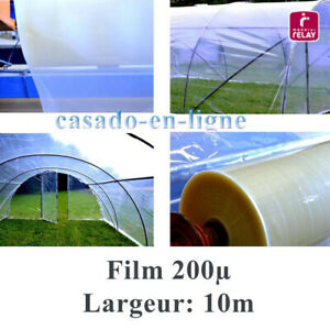 Details Sur Film Plastique Polyane Pro 200µ 10m De Large Pour Serre Tunnel De Jardin