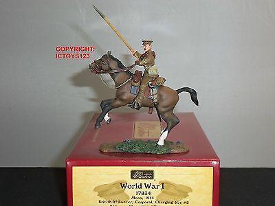 BRITAINS 17834 BRITISH 9TH LANCER CORPORAL MOUNTED TOY SOLDIER FIGURE SET