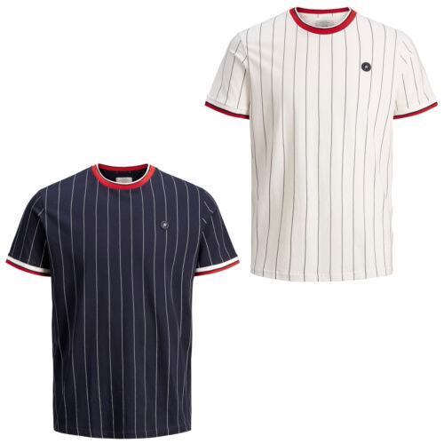 Jack /& Jones Originals T-Shirt JORPinstripe Mens Pin Stripe Summer Cotton Tee