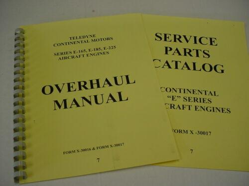 7 Continental ENGINES  E165  E185  E225 Overhaul /& Parts Manual