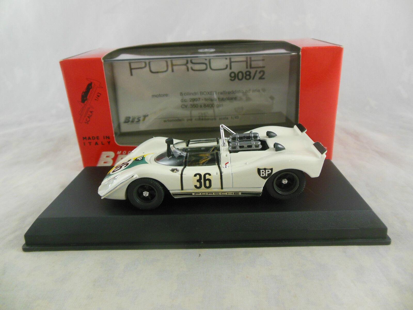 Best Model 9066 PORSCHE 908 2 1970 Zeltweg RACING Nº 36