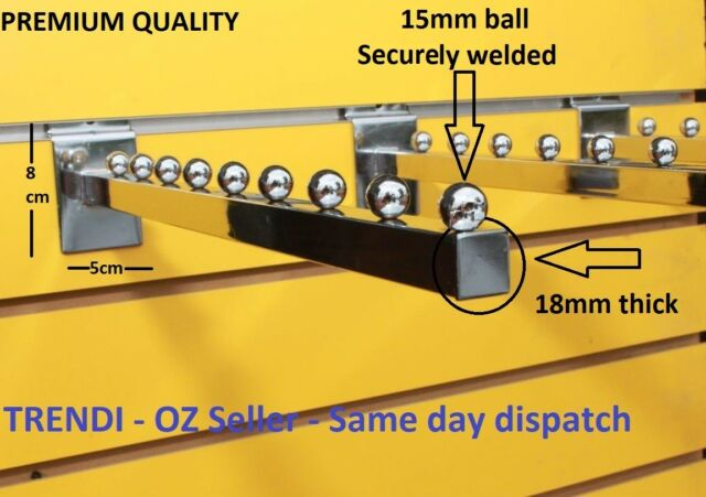 Each Slatwall Garment clothing Hanger Rack Hook Retail Shop Display slat wall