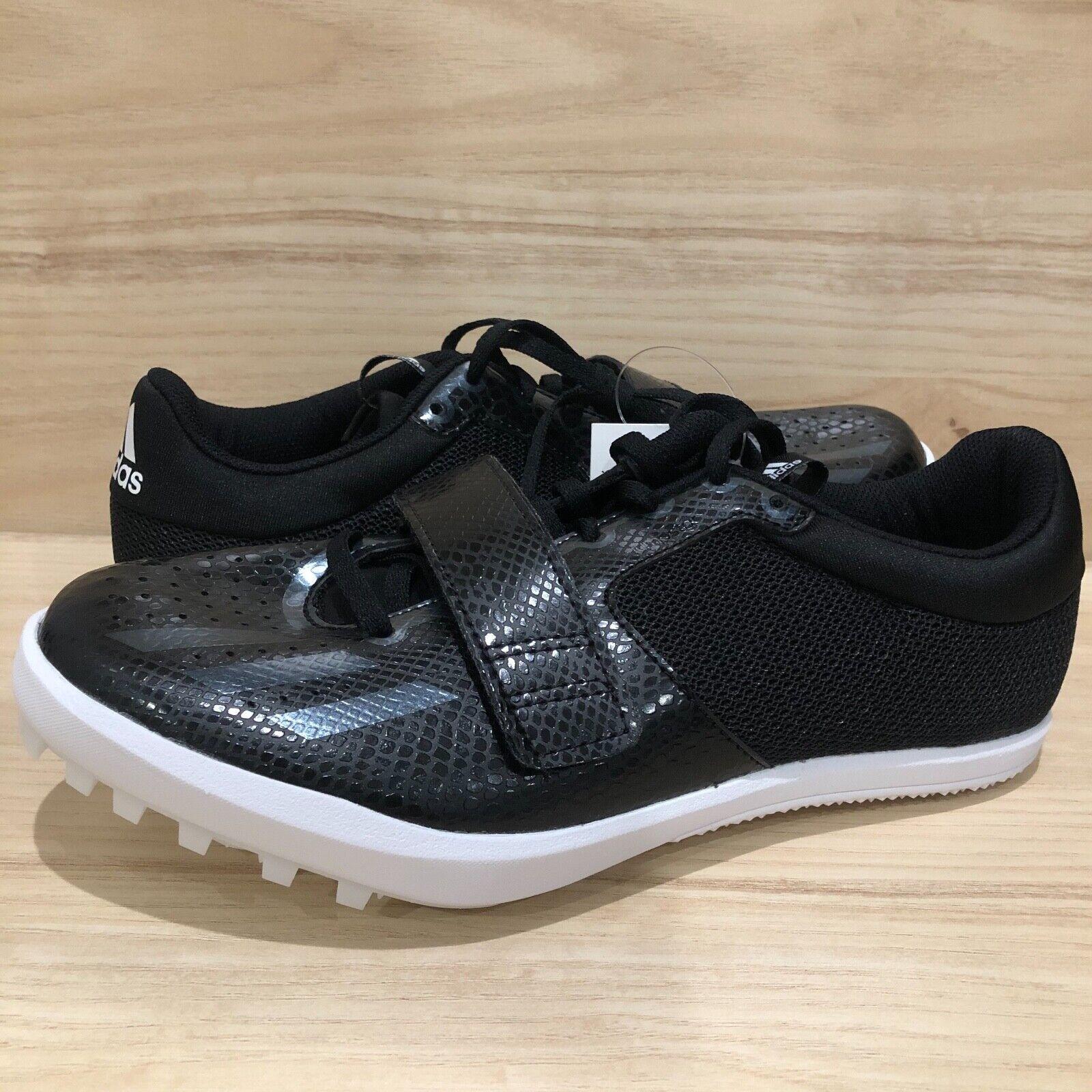 NEW Adidas Jumpstar Triple Long Shoe Black White Track Field B37500 Men Size 8