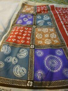 Vintage-Wrap-N-039-Tie-Skirt-cotton-fabric-panel-amp-halter-makes-1-skirt-amp-halter