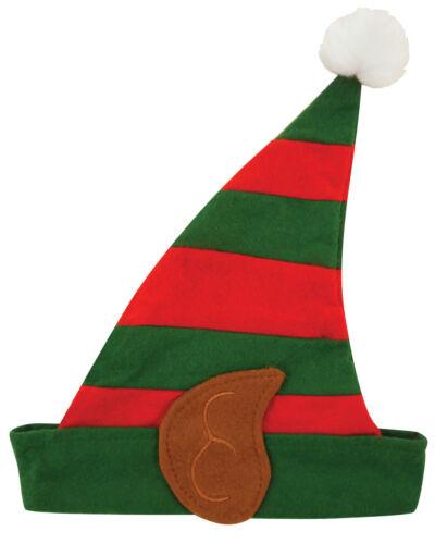 Bambini Elfo strpey Cappello Con Orecchie in Pile Unisex Bambini Natale Costume Natale