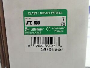 littelfuse jtd600 600 amp 600v class j time delay fuse - new in ...  ebay