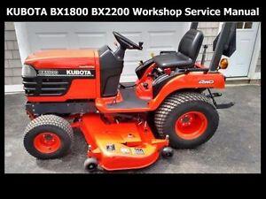 kubota bx1800 bx2200 tractor workshop manuals 310pg for tractor rh ebay com kubota bx2200 service manual english kubota bx2200 service manual english