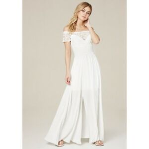 Details About New Sexy Bebe Maxi Lace Dress Bridal Shower Size Xs