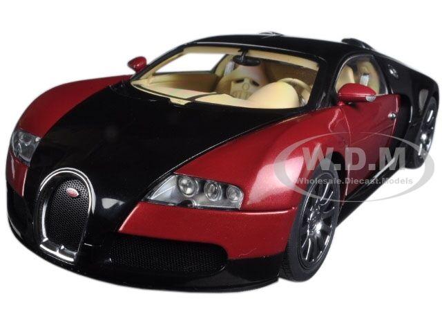 Bugatti Veyron Eb 16 4 1st Production Car Black Red Ltd 1200 1 18