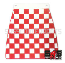 LAMBRETTA or VESPA CUPPINI BLACK AND RED EMBOSSED CHECKED MUDFLAP