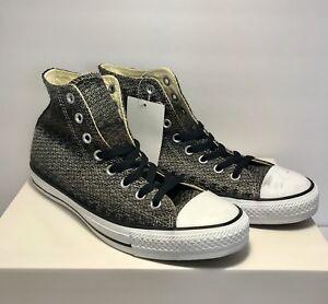 05e720423df Converse Mens Size 11 CTAS Hi Black Brown White Shoes Sneakers Knit ...