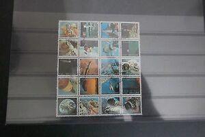 Kleinbogen-Briefmarken-Kuwait-gestempelt