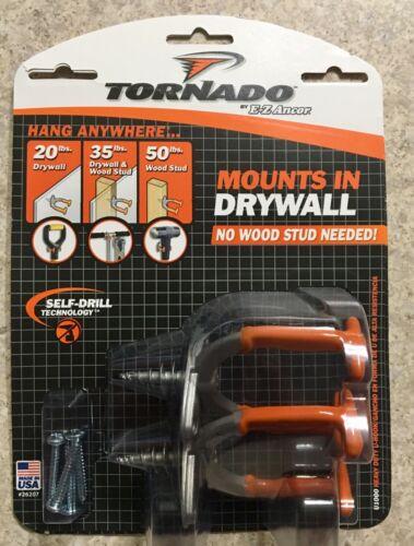 U-Hooks Tornado U1000 E-Z Ancor Mounts in Drywall Self-Drill Technology