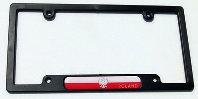 Poland Polish Chrome License Plate Frame Dome Emblem