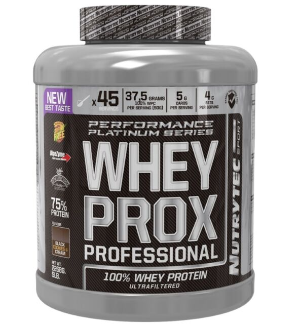 WHEY PROX PROFESSIONAL chocolate con avellana 2268gr NUTRYTEC PLATINUM PROTEINA