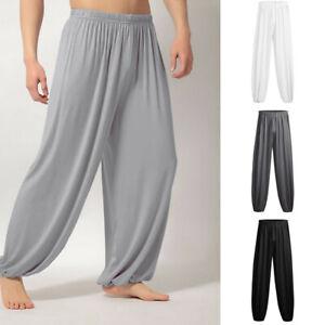 Moda Para Hombre Casual Solido Suelto Pantalones Deportivos Pantalones Para Corredores Pantalon Yoga De Baile Ca Ebay