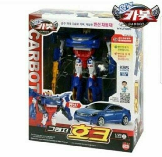 Hello Carbot Premium Grandeur Hawk Car Transformer Play Set Toy Kids Gift_EA
