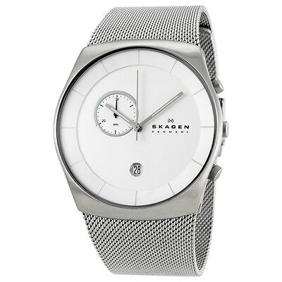 Skagen Havene Silver Dial Stainless Steel Mesh Mens Watch SKW6071