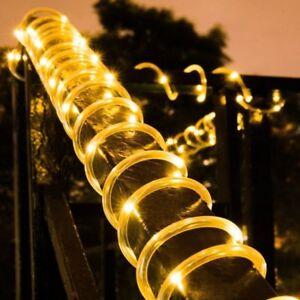 12M LED Lampe Solaire Guirlande Noël Lumineuse Déco Extérieur Jardin ...