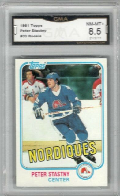 1981-82 Topps #39 Peter Stastny RC   Graded NM/MT +   Quebec nordiques