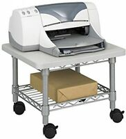 Under Desk Printer/machine Stand, Mobile Cart Spacesaver Office Furniture Gray