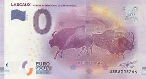 -- 2017-3 tourist ticket 0 euro souvenir -- 24 lascaux bison adosses