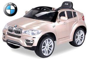 Kinder-Elektroauto-Kinderauto-BMW-X6-Lizenziert-lackiert-2x45W-Tueren-zum-Offnen
